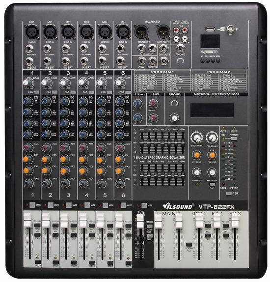 VTP-622FX  Power Mixer